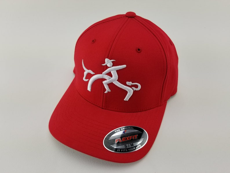 6389a44c bull rider hat, Rodeo hat, cowboy hat, cap, bull riding, MAD, 8 second  rider, Flexfit hat, 3d embroidery, rodeo fashion, rodeo life, red