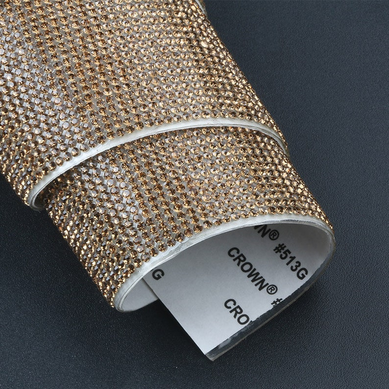 fc9e130dde19 1 Piece of 2440cm Self Adhesive Rhinestones Sheet 2mm