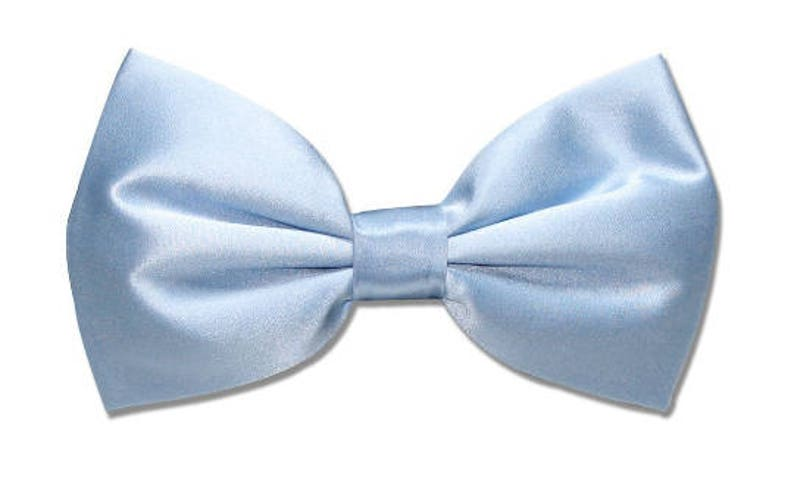 aa662bfe26ed Baby Blue Light Blue Satin Bow tie for kids boy toddler or | Etsy