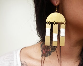 Brass+Cotton collection - Evie classic earrings