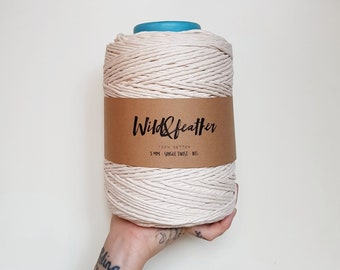 Cotton string 3mm single twist - Natural 1kg