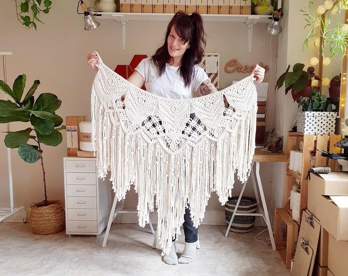 Madelaine - large macramé wall hanging / macramé tapestry / garland made from all natural materials