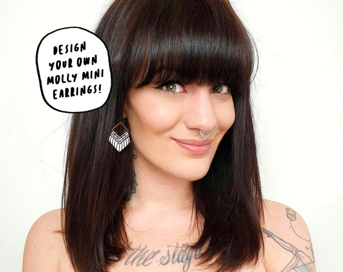 Design your own Wild And Feather macrame earrings: Molly mini