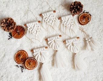 Full ornament set of 9 pieces - snow