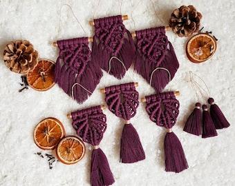 Full ornament set of 9 pieces - plum