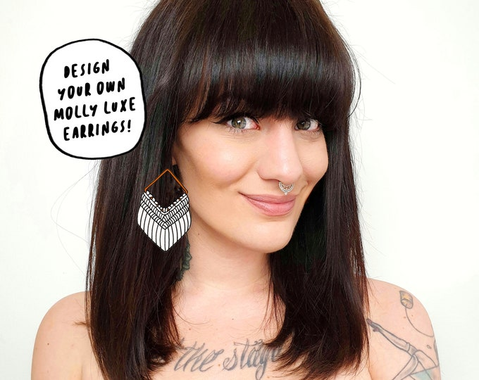 Design your own Wild And Feather macrame earrings: Molly luxe