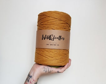 Cotton string 5mm single twist - Mustard 1kg