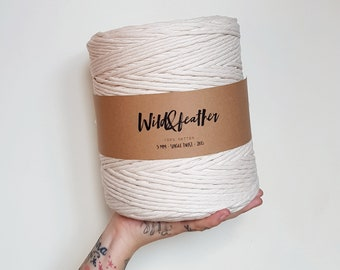 Cotton string 5mm single twist - Natural 2kg