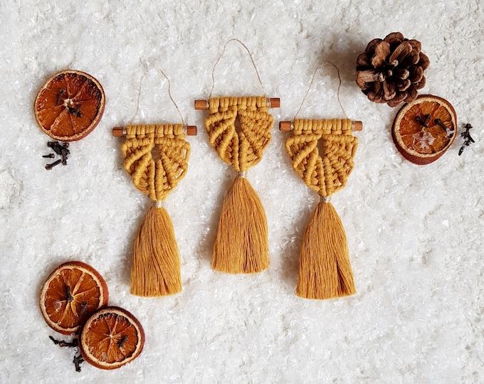 Angel ornaments - mustard