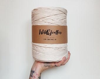 Cotton string 5mm single twist - Natural 1kg