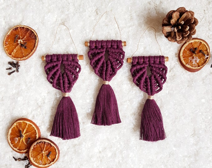 Angel ornaments - plum