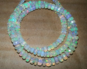 ETSY BIRTHDAY SALE Natural Ethiopian Welo Opal Beads Faceted Rondelle Bead | Ethiopian Opal Beads | Faceted Opal Bead | Wholesale Opal Beads