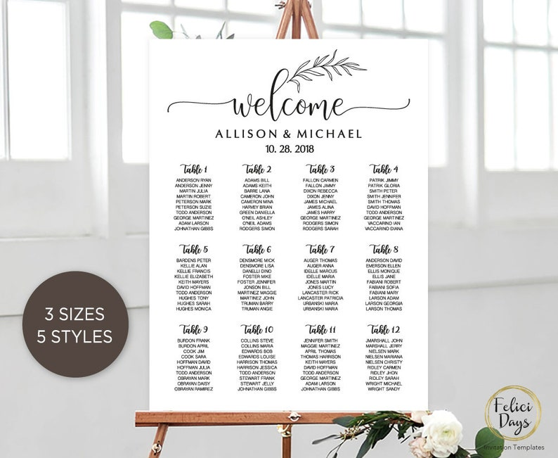 PDF WD211 Wedding Seating Chart Sign DIY Find your Seat Seating Board Seating Plan Welcome Seating Chart Printable Template