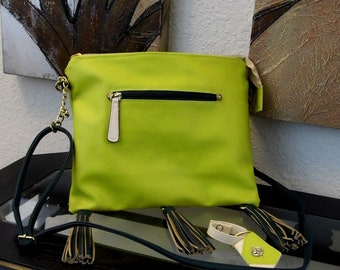 e0474abb2aff Green Vegan Leather Hobo Bag Faux Leather Bag For Women
