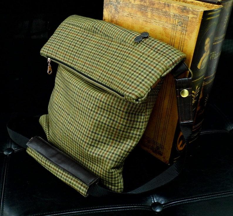 4ca51570f Brown Crossbody Bag Mens Crossbody Bag Foldover Crossbody | Etsy