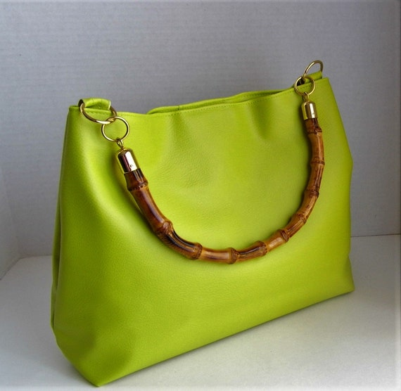 87c4b4f8d007 Green Vegan Leather Hobo Bag A Perfect Gift For Women Large