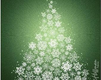 Hoffman Supernova Seasons Snowflake Tree Panel
