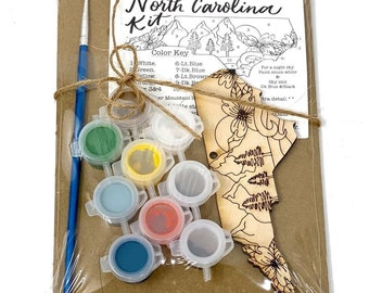 Paint your own North Carolina Mountains Ornament Kit| Christmas | Gift | Gift Idea