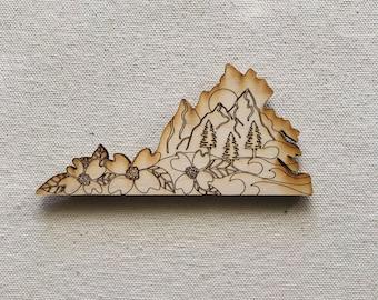 Virginia Mountains Magnet | Christmas | Gift | Gift Idea