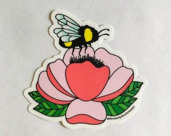 Bee Sticker | Water bottle, Laptop, Gift