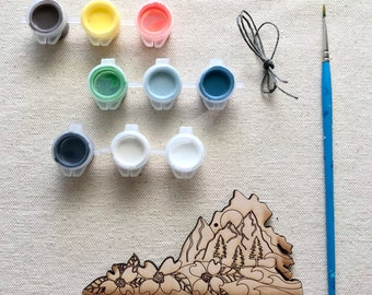 Paint your own Virginia Mountains Ornament Kit| Christmas | Gift | Gift Idea