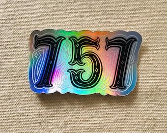 757 Sticker| Gift | water bottle | laptop