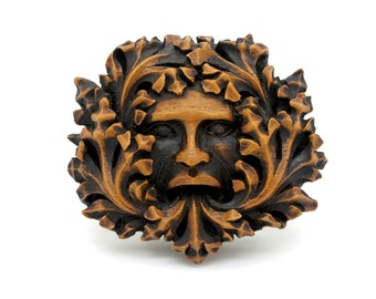 Green Man Wall Plaque From Lincoln Cathedral