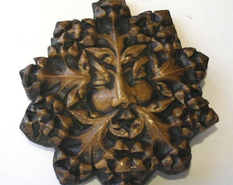 Green Man Wall Plaque From Worcester Cathedral