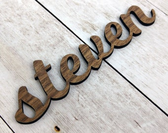 Wooden Wedding Place Cards / Wooden Laser Cut Name Place Cards / Place Cards Wedding / Personalized Place Settings / Custom Name Cards Wood