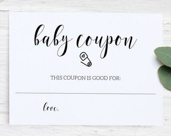 baby coupon printable baby shower printable baby shower props baby shower games baby shower decorations instant download template pdf