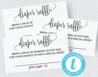 diaper raffle ticket diaper raffle ticket printable diaper etsy