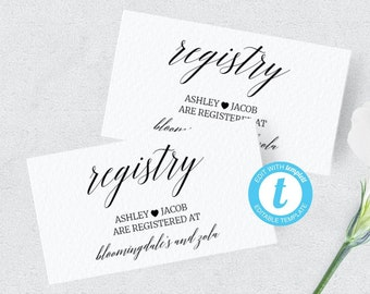 Baby Registry Card Etsy