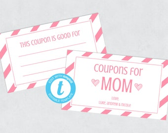Mothers Day Coupon Etsy