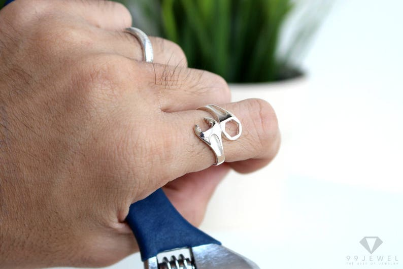 wrench ring sterling silver 92.5/%