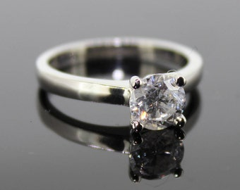Natural 1.02ct Round Brilliant Cut Diamond Single Stone Ring