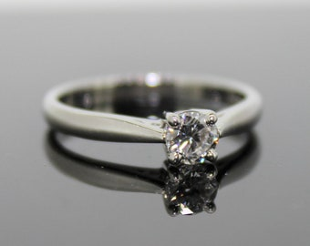 Single Stone Brilliant Cut Diamond Ring