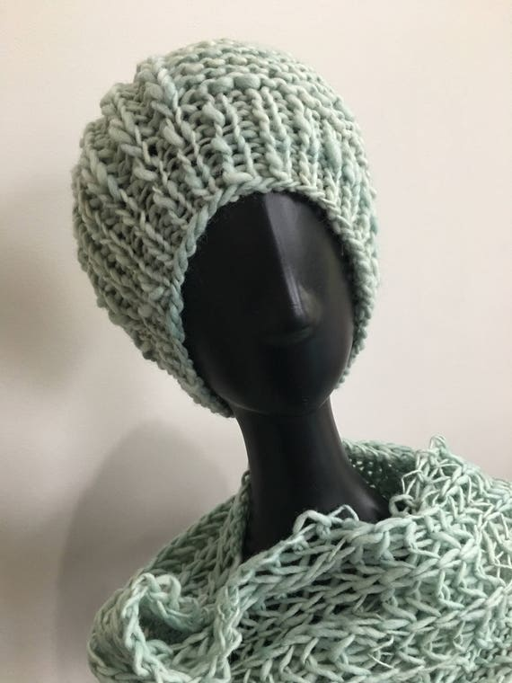 CLEARANCE PRICE Wool Hat Scarf Set Chunky Wool Hat Scarf  c5d3ba49d89
