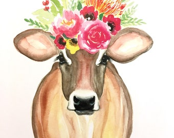 Whimsical Cow Etsy