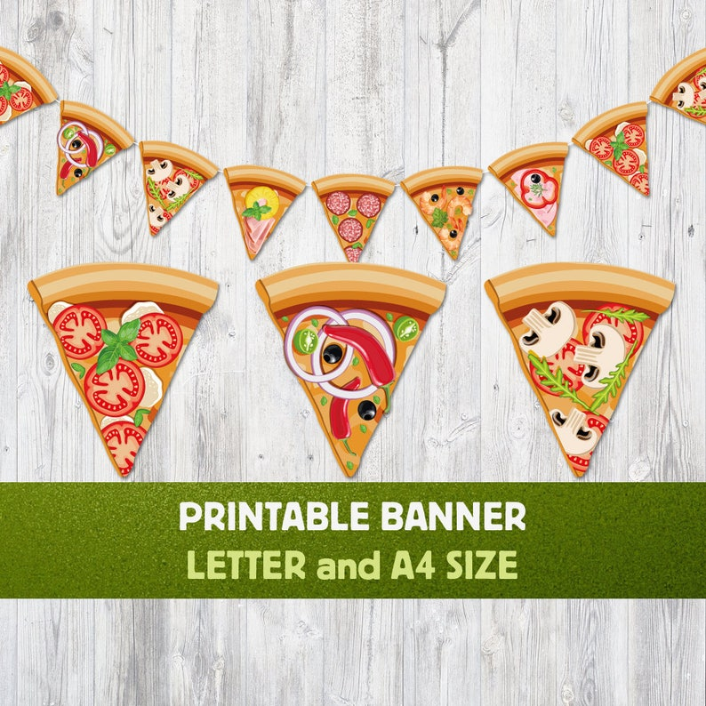 photo regarding Pizza Printable identified as Pizza Printable Banner, Pizza Bash Banner, Pizza Garland, Nursery Banner, Nursery Decoration, Italian Foods Banner, Pepperoni, Pizza Decor