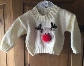 Babies Rudolph Christmas jumper