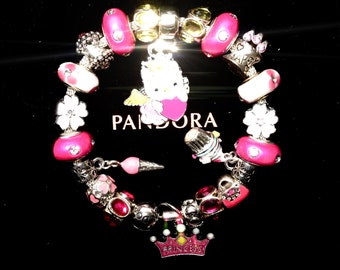 524b2bbe8 Authentic Pandora 925 Sterling Silver Hello Kitty Birthday Angel/Princese  Bracelet