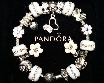 9be8eee2f Authentic Pandora 925 Sterling Silver Bracelet Mesh Bangle Butterfly