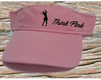 Lady golfer awareness visor 856224d344e4