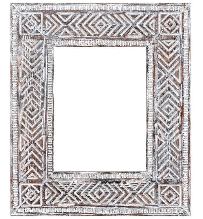 Stammes schnitzen Holz Rahmen Aztec Boho Bild Rahmen Boho Foto