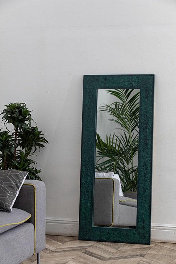 Miroir Loft Vert Papouasie Miroir Indien Vert Miroir Hippie Vert Vert Boho Miroir Miroir Ethnique Vert Miroir Païen Vert