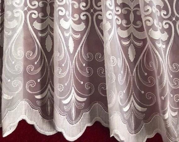 white lace scallop edge Shirt extender scroll design plus size dress extender