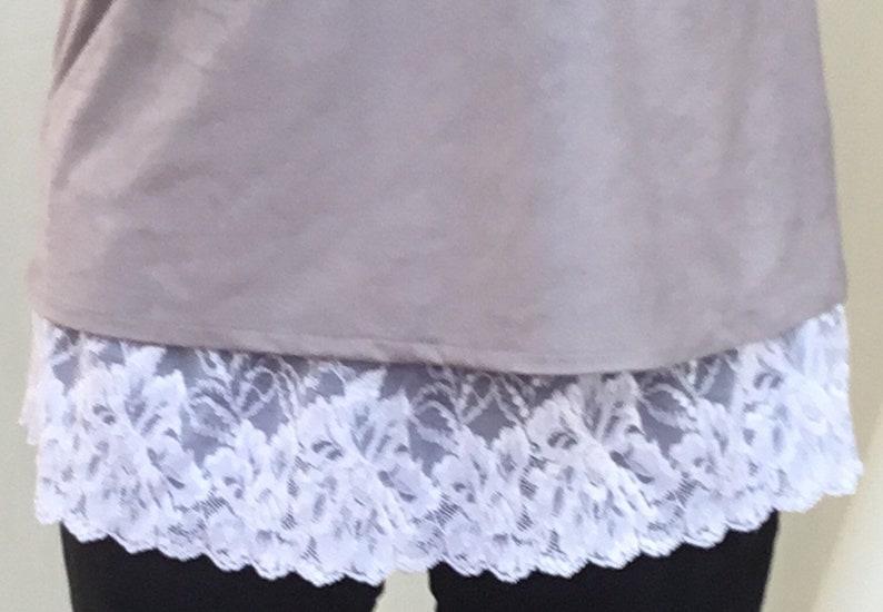 dfd1373cc1d Skirt extender plus size shirt extender  dress extender lace