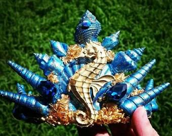 Seahorse mermaid crown
