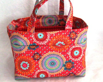 colorful tote red lunchbox