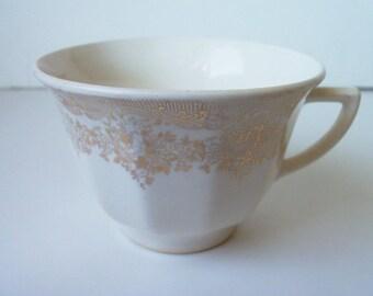 Antique  porcelain gold plated  cup  (#EV81)